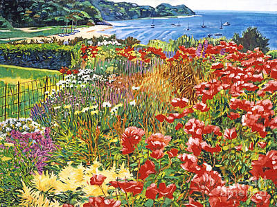 Cape Cod Ocean Garden Print by David Lloyd Glover
