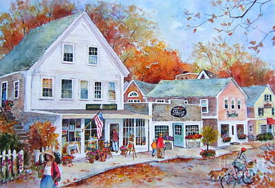 Chatham Painting - Cape Cod Village by Sherri Crabtree