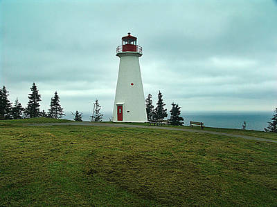 Cape George Lighthouse Print by Janet Ashworth