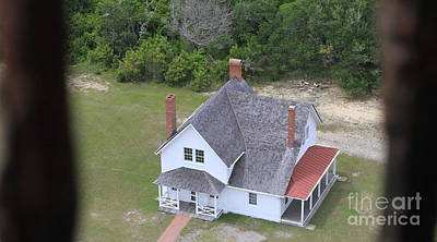 Lighthouse Photograph - Cape Hatteras Light Keepers Quarters by Cathy Lindsey