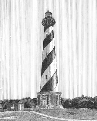 Drawing - Cape Hatteras Lighthouse by Stephany Elsworth