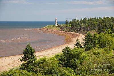 Rugged Coastline Photograph - Cape Jourimain Lighthouse In New Brunswick by Elena Elisseeva