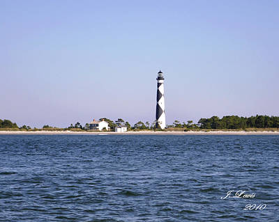 Cape Lookout Light Print by James Lewis