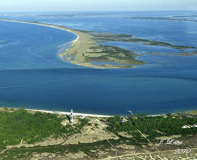 Cape Lookout Looking Down Shakleford Banks Print by James Lewis