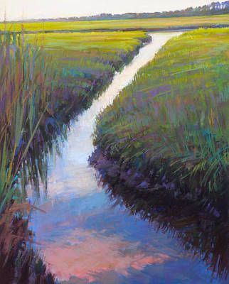 Cape Marsh Print by Ed Chesnovitch