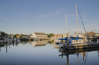 Seascape Photograph - Cape May Marina - New Jersey by Bill Cannon