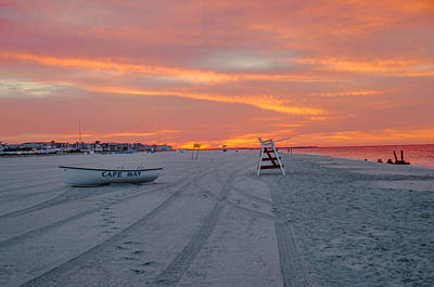 Jersey Photograph - Cape May Seascape by Bill Cannon
