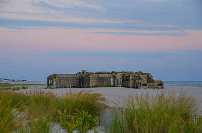 War Photograph - Cape May Wold War Two Concrete Bunker by Bill Cannon