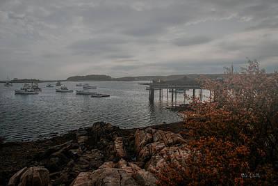 Ocean Photograph - Cape Porpoise Maine - Fog Rolls In by Bob Orsillo