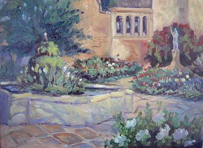 Mission San Juan Capistrano Painting - Capistrano Morning by Linda  Wissler