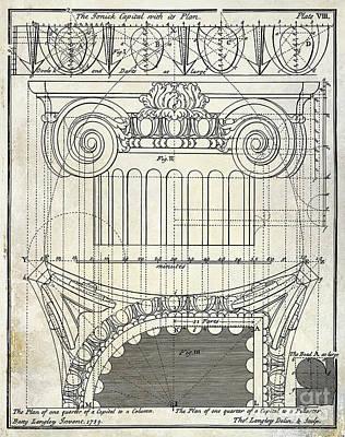 Capital Drawing Print by Jon Neidert