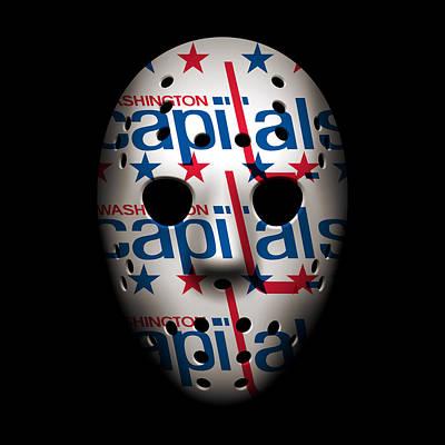 Goalie Photograph - Capitals Goalie Mask by Joe Hamilton
