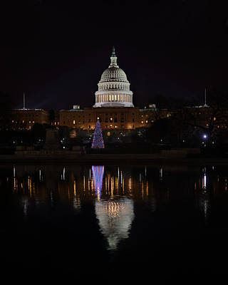 Pool Photograph - Capitol Christmas - 2012 by Metro DC Photography