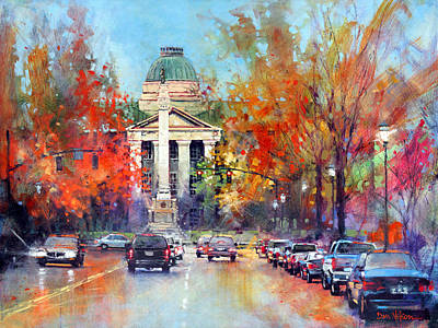 Capitol Building Painting - Capitol Confederate by Dan Nelson