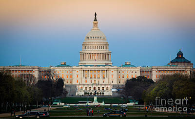 Capitol Hill Print by Inge Johnsson