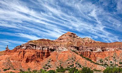 Capitol Peak - Palo Duro Canyon Print by Charles Dobbs