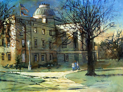 Capitol Building Painting - Capitol Sun by Dan Nelson