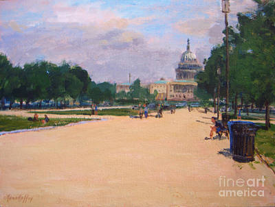 Capitol Building Painting - Capitol View by Joan Coffey