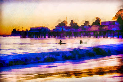 Pier Mixed Media - Capitola - The Return To Shore  by Priya Ghose