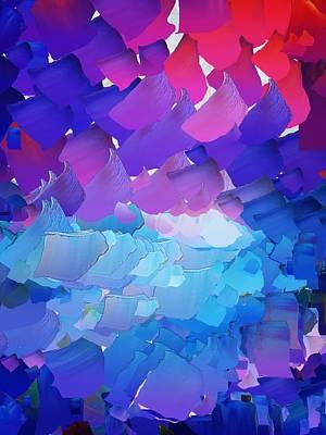 Pallet Knife Digital Art - Capixart Abstract 01 by Chris Axford
