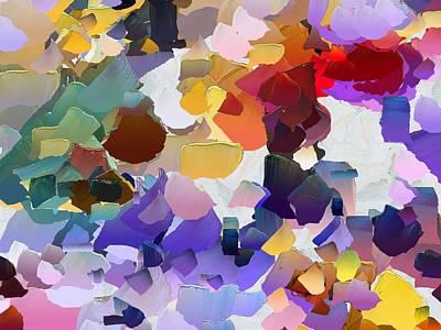 Pallet Knife Digital Art - Capixart Abstract 20 by Chris Axford
