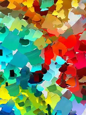 Pallet Knife Digital Art - Capixart Abstract 21 by Chris Axford