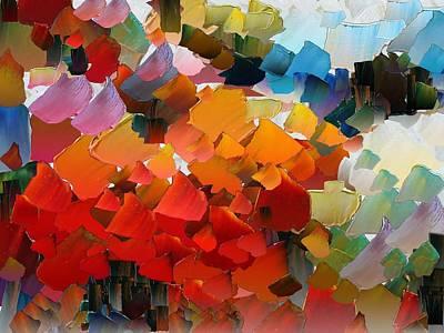Pallet Knife Digital Art - Capixart Abstract 25 by Chris Axford