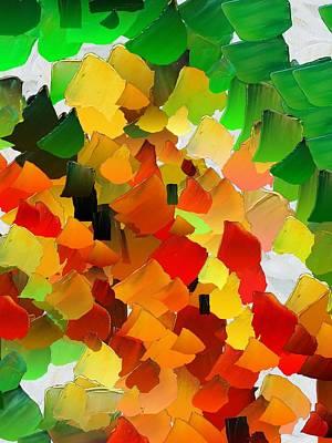 Pallet Knife Digital Art - Capixart Abstract 30 by Chris Axford