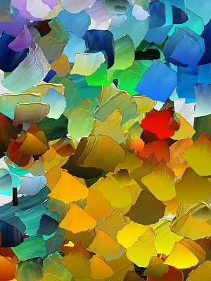Pallet Knife Digital Art - Capixart Abstract 33 by Chris Axford