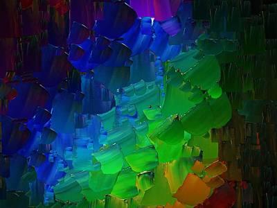 Pallet Knife Digital Art - Capixart Abstract 51 by Chris Axford