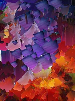 Pallet Knife Digital Art - Capixart Abstract 66 by Chris Axford