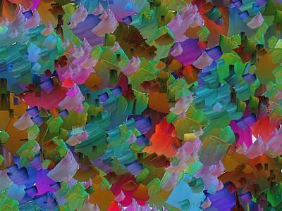 Pallet Knife Digital Art - Capixart Abstract 71 by Chris Axford