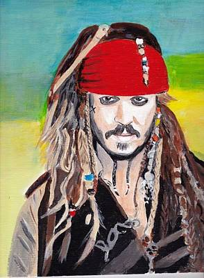 Jack Sparrow Painting - Cap'n Jack Sparrow by Audrey Pollitt