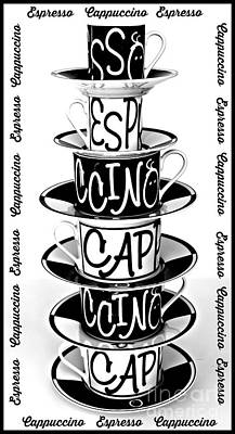 Cappuccino Or Espresso Print by Clare Bevan