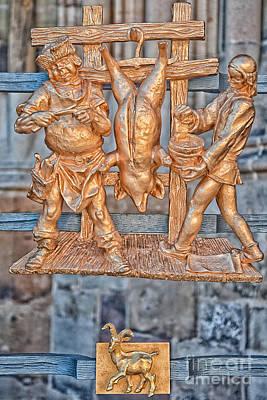 Goat Photograph - Capricorn Zodiac Sign - St Vitus Cathedral - Prague by Ian Monk
