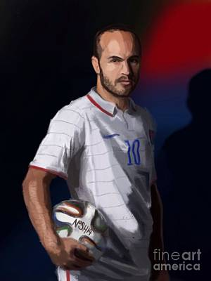Landon Donovan Digital Art - Captain America by Jeremy Nash