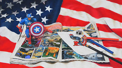 Captain America Print by Joanne Grant
