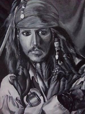 Jack Sparrow Painting - Captain Jack Sparrow by Lori Keilwitz