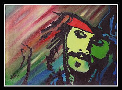 Jack Sparrow Painting - Captain Jack Sparrow - Johnny Depp by Pratik Jaiswal