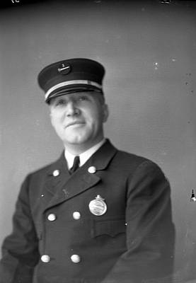 Captain Kinch Of The Century Of Progress Fire Department Print by Retro Images Archive