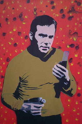 Captain Kirk Print by Gary Hogben