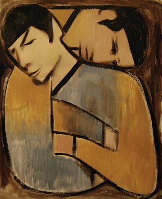 Star.star Trek Painting - Captain Kirk Spock Cubism by Tommervik