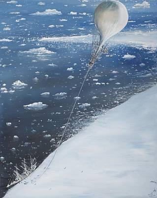 Iceberg Painting - Captain Scott Antarcticas First Aeronaut by Vincent Alexander Booth