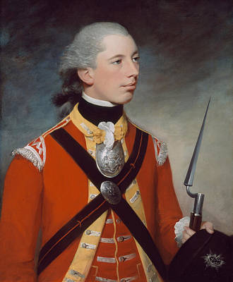 Redcoat Painting - Captain Thomas Hewitt, 10th Regiment by William Tate