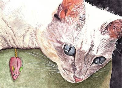 Domestic Short Hair Cat Painting - Captivated by Steph Bucci