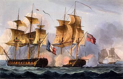 Capture Of Le Desius Print by Thomas Whitcombe