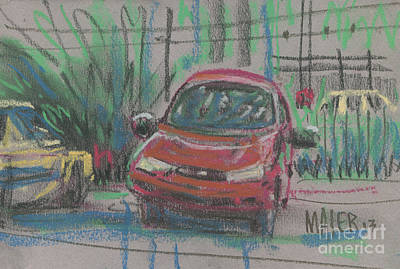 Auto Drawing - Car Crazy by Donald Maier