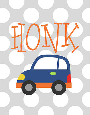 Car Honk Print by Tamara Robinson