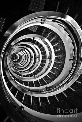 Downtown Stairs Photograph - Time Tunnel Spiral Staircase In Sao Paulo Brazil by Carlos Alkmin