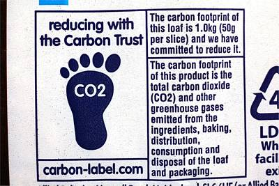 Carbon Footprint Label Print by Science Photo Library